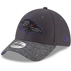 Men's New Era Graphite/Heathered Gray Baltimore Ravens Popped Shadow 39THIRTY Flex Hat
