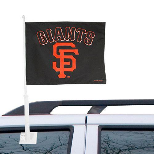 "San Francisco Giants 12"" x 15"" Black Car Flag"