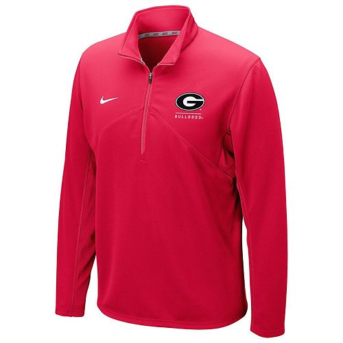 Men's Nike Red Georgia Bulldogs Training Dri-FIT 1/4 Zip Jacket