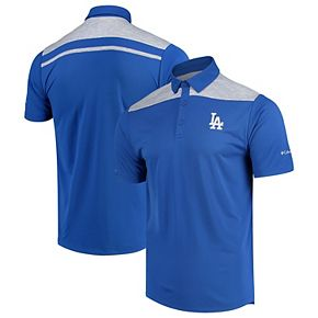 Men's Columbia Royal Los Angeles Dodgers Utility Omni-Wick Polo