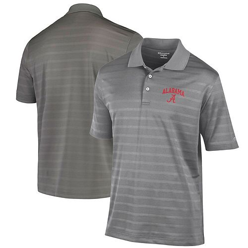 Men's Champion Charcoal Alabama Crimson Tide Textured Polo