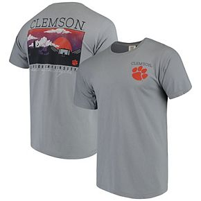 Men's Gray Clemson Tigers Comfort Colors Campus Scenery T-Shirt