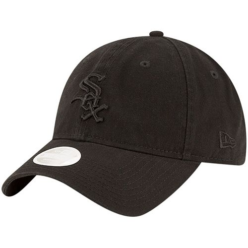Women's New Era Black Chicago White Sox Core Classic Tonal Team 9TWENTY Adjustable Hat