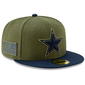 Men's New Era Olive/Navy Dallas Cowboys 2018 Salute to Service Sideline 59FIFTY Fitted Hat