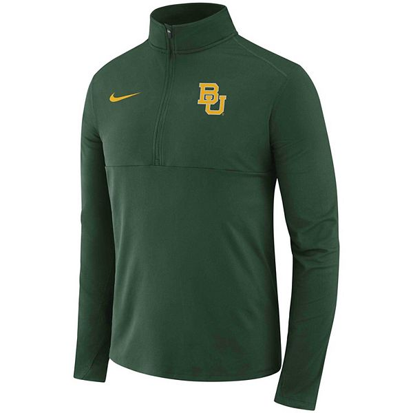 Men's Nike Green Baylor Bears Performance Quarter-Zip Pullover Jacket