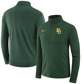 Men's Nike Green Baylor Bears Performance Quarter-Zip Pullover Jacket