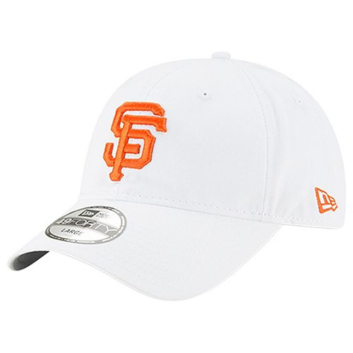 Men's New Era White San Francisco Giants Core 49FORTY Fitted Hat