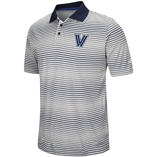 Men's Colosseum Gray Villanova Wildcats Lesson Number One Polo
