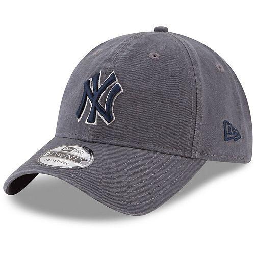 Men's New Era Graphite New York Yankees Primary Logo Core Classic 9TWENTY Adjustable Hat