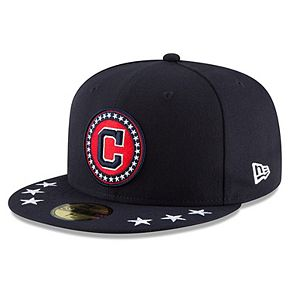 Men's New Era Navy Cleveland Indians 2018 MLB All-Star Workout On-Field Team Color 59FIFTY Fitted Hat