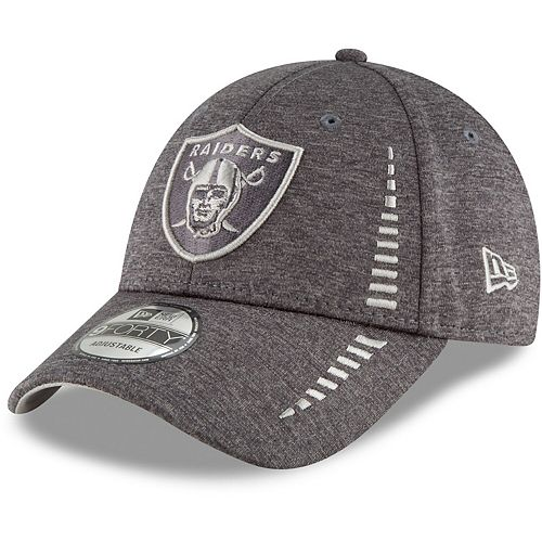 Men's New Era Graphite Oakland Raiders Speed Shadow Tech 9FORTY Adjustable Hat