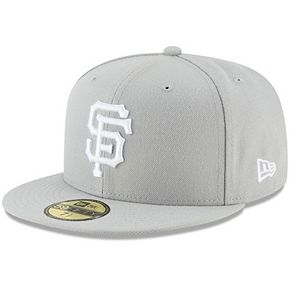 Men's New Era Gray San Francisco Giants Fashion Color Basic 59FIFTY Fitted Hat