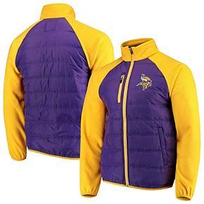 Men's G-III Sports by Carl Banks Purple/Gold Minnesota Vikings Reinforcer Full-Zip Jacket