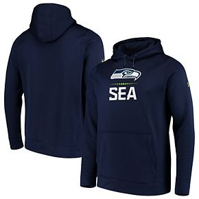 Men's Under Armour College Navy Seattle Seahawks Combine Authentic Lockup Pullover Hoodie