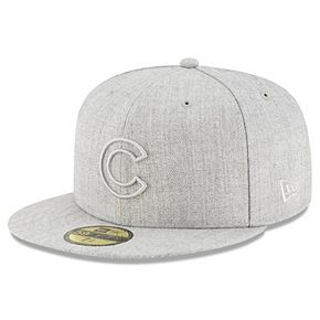 Men's New Era Gray Chicago Cubs Twisted Frame 59FIFTY Fitted Hat