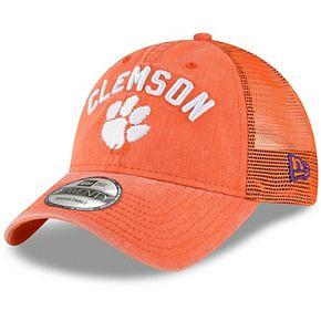 Men's New Era Orange Clemson Tigers Rugged Stack Trucker 9TWENTY Adjustable Snapback Hat