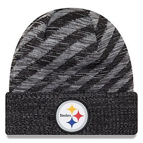 Youth New Era Black Pittsburgh Steelers 2018 NFL Sideline Cold Weather TD Knit Hat