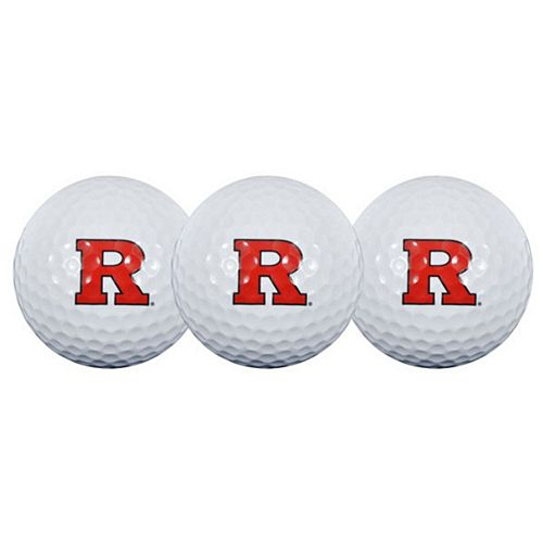 Rutgers Scarlet Knights Pack of 3 Golf Balls
