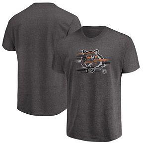 Men's Majestic Heathered Charcoal Cincinnati Bengals Big & Tall Fierce Intensity T-Shirt