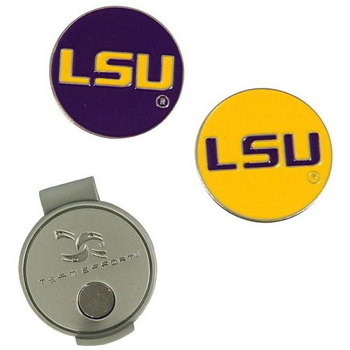 LSU Tigers Hat Clip & Ball Markers Set