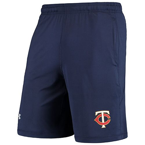 Men's Under Armour Navy Minnesota Twins Raid Left Leg Performance Shorts