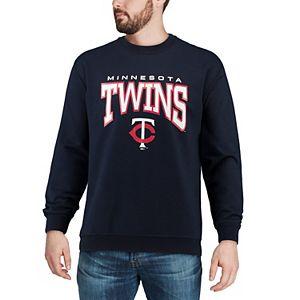 Men's Stitches Navy Minnesota Twins Pullover Crew Neck Sweatshirt