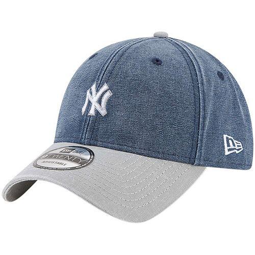 Men's New Era Navy New York Yankees Rugged 9TWENTY Adjustable Hat