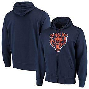Men's G-III Sports by Carl Banks Navy Chicago Bears Primary Logo Full-Zip Hoodie