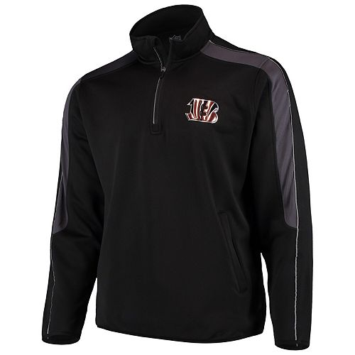 Men's G-III Sports by Carl Banks Black Cincinnati Bengals I Formation Quarter-Zip Pullover Jacket