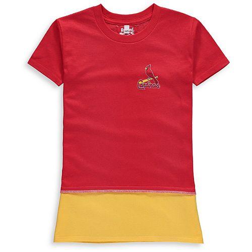 Girls Preschool Refried Tees Red St. Louis Cardinals T-Shirt Dress