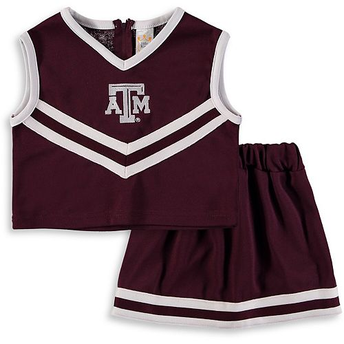 Girls Youth Maroon Texas A&M Aggies Two-Piece Cheer Set