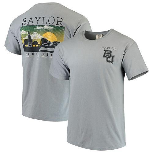 Men's Gray Baylor Bears Team Comfort Colors Campus Scenery T-Shirt