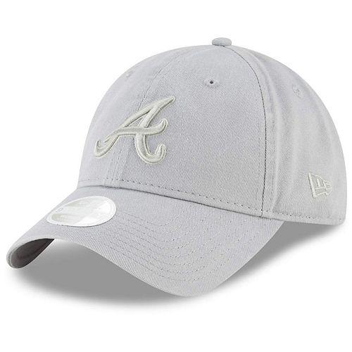 Women's New Era Gray Atlanta Braves Core Classic Twill 9TWENTY Adjustable Hat