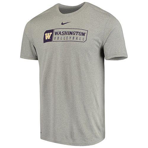 Men's Nike Gray Washington Huskies Volleyball Team Sport Legend Performance T-Shirt
