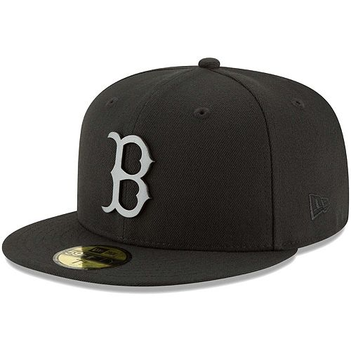 Men's New Era Black Boston Red Sox Sleeked Finish 59FIFTY Fitted Hat