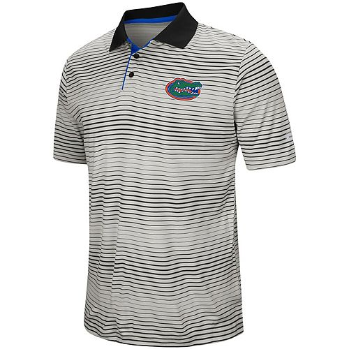 Men's Colosseum Gray Florida Gators Lesson Number One Polo