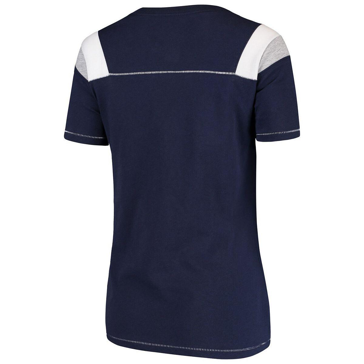 Women's Navy Dallas Cowboys Flapper Scoop Neck T-Shirt d7JSg