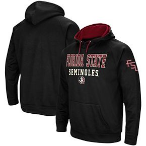 Men's Colosseum Black Florida State Seminoles Performance Pullover Hoodie