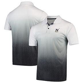 Men's Colosseum Gray Navy Midshipmen Magic Team Logo Polo