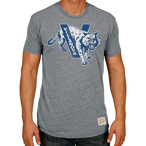 Men's Original Retro Brand Heathered Gray Villanova Wildcats Tri-Blend T-Shirt