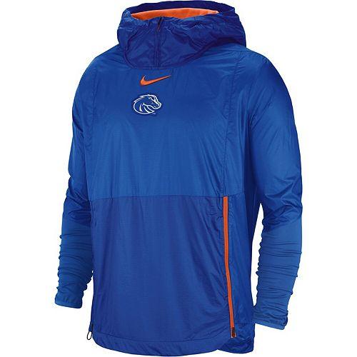 Men's Nike Royal Boise State Broncos 2018 Sideline Fly Rush Pullover Jacket