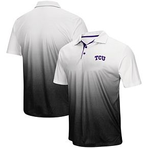 Men's Colosseum Gray TCU Horned Frogs Magic Team Logo Polo