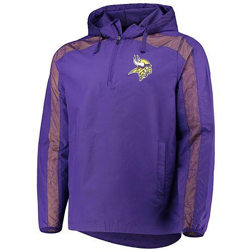 Men's G-III Sports by Carl Banks Purple Minnesota Vikings Lineup Hooded Half-Zip Jacket