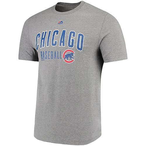 Men's Majestic Heathered Gray Chicago Cubs Open Opportunity Domestic T-Shirt