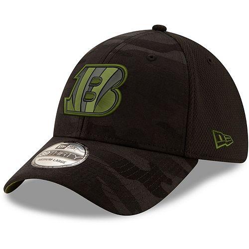 Men's New Era Black Cincinnati Bengals Camo Royale 39THIRTY Flex Hat