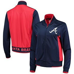 Women's G-III 4Her by Carl Banks Navy/Red Atlanta Braves Triple Track Jacket