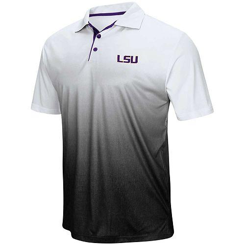 Men's Colosseum Gray LSU Tigers Magic Team Logo Polo
