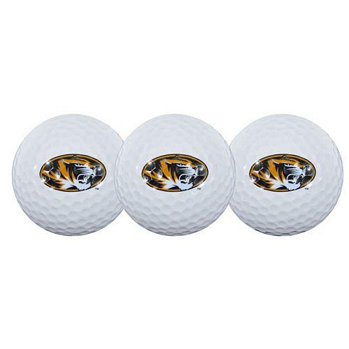 Missouri Tigers Pack of 3 Golf Balls