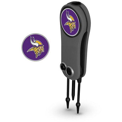 Minnesota Vikings Switchblade Repair Tool & Two Ball Markers