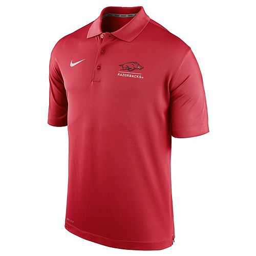 Men's Nike Cardinal Arkansas Razorbacks Logo and Mascot Name Varsity Performance Polo